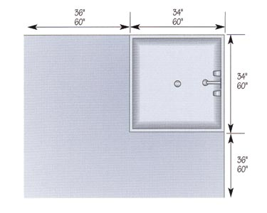 shower dimensions vary widely from the minimum usable size to the most generous when space is tight consider a corner unit